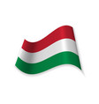 the official flag of hungary vector image