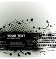 Tire track background with text vector image