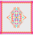 tribal decorative pattern in frame vector image vector image
