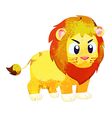 Watercolor peacok lion isolated on white vector image