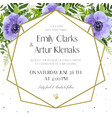 wedding floral floral invite card design vector image vector image