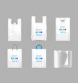 white plastic shopping bags vector image vector image