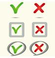 yes no symbol icon vector image