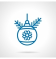 Simple blue line decoration bauble icon vector image