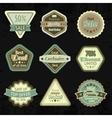 Sale labels and badges design set vector image