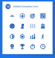 16 competition icons vector image vector image