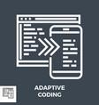 adaptive coding thin line icon vector image