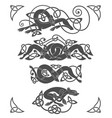 ancient celtic mythological symbol wolf dog vector image vector image