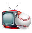 baseball channel vector image vector image