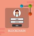 blockchain login password internet security vector image vector image