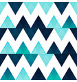 blue zigzag seamless pattern vector image vector image