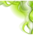 Bright green waves background vector image vector image