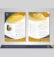 business flyer presentation vector image vector image