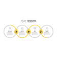 business infographics template timeline with 4 vector image vector image
