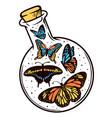 butterfly labbottle vector image