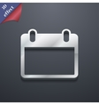 Calendar icon symbol 3D style Trendy modern design