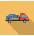 Car Evacuation Flat Long Shadow Square Icon vector image vector image