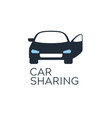 car sharing service icon design concept vector image