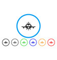 cargo aircraft rounded icon vector image vector image