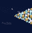 christmas and new year winter town greeting card vector image vector image