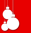 Christmas paper hanging balls with copy space for vector image vector image