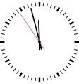 Clock isolated vector image