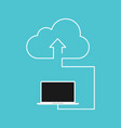 cloud computing concept flat design vector image vector image