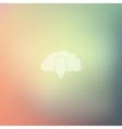 cloud icon on blurred background vector image