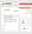 compass business letterhead envelope and visiting vector image vector image