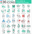 Construction and building tools modern vector image vector image