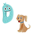 cute kids cartoon alphabet letter d vector image vector image