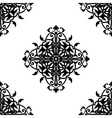 Decorative fractal in arabic or muslim style vector image