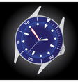 diver watch case and dial eps10 vector image vector image