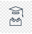 exam concept linear icon isolated on transparent vector image