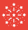 fireworks glyph icon new year and christmas vector image vector image