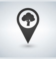 forest location icon tree inside pinpoint vector image vector image