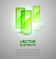 Green Elements vector image vector image