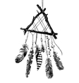 hand drawn dream catcher vector image vector image