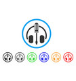 headphones tuning screwdriver rounded icon vector image