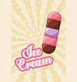 ice cream tasty image vector image