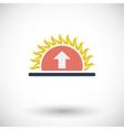Icon sunrise vector image