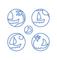 icons pictograms seascape vector image vector image