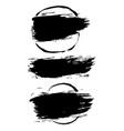 ink dry brush frame set vector image