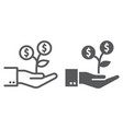 investment growth line and glyph icon finance vector image vector image