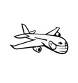 jumbo jet plane airliner flying wearing face mask vector image