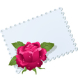 lace napkin and rose vector image vector image