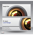 Lens business card vector image vector image
