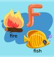 letter f in children s alphabet