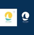logos sailboat and sun vector image