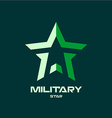 Military star logo template vector image vector image
